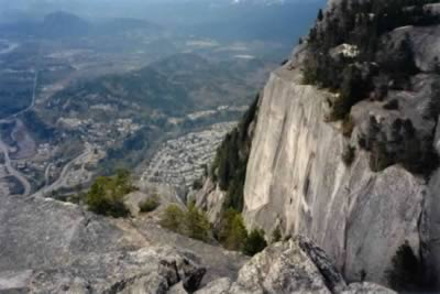 A view of Squamish from atop the Chief - Cynical Sunshine's world HQ is somehwere down below!
